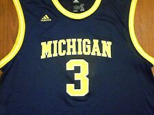 Classic Michigan Wolverines #3 Basketball Jersey by Adidas, Adult XL, NICE!!!