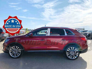 2019-2021 Lincoln Nautilus/2016-2018 MKX 6Pc w/KP Cutout Chrome Pillar Post Trim