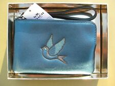 COACH Wristlet Leather Wallet Small coin Purse Bag BOX New Signature 22711 22710
