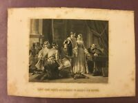 Antique Book Print - Lady Jane Grey's Reluctance to Accept the Crown - 1875