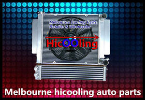 Aluminum radiator+Fan+Oil Cooler for Mazda RX2 RX3 RX4 RX5 RX7 with heater pipe