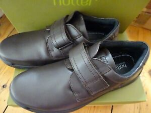 HOTTER MENS SHOES SEDGWICK BROWN LEATHER UPPER UK12 EU47 NEW BOXED