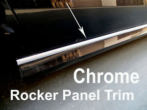 2005-2019 CHEVY Chrome SIDE ROCKER PANEL Trim Molding Kit 2PC