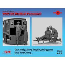 ICM 35694 PERSONNEL MEDICAL DE L US ARMY WWI 1/35