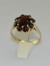 Ring mit böhmischem Granat 333er 8 Karat Gelbgold