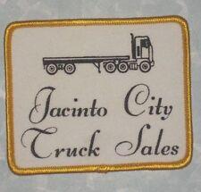 "Jacinto City Truck Sales Patch - vintage -3 1/2"" x 3""  - Texas"