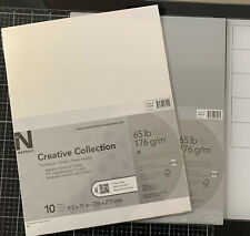 Neenah Creative Collectice Cardstock Mettalic White Metallic Gray