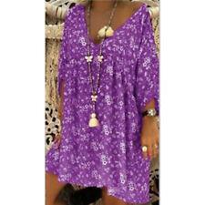 Women V Neck Caftan Baggy Dress Ladies Vintage Hippie Boho Beach Cover Plus Size