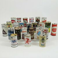 24 Lot Beer Can Collection Old Vintage Flat Top Pull Tab Aluminum Steel