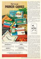 1962 Risk! Sorry! Careers Monopoly Game photo Parker Brothers vintage print ad