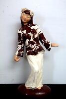 Vintage 1940's Hedi Schoop California Pottery Asian Lady Figurine
