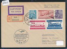 67122) LH FF Wien Österreich -  Hamburg 28.4.57, Reco Brief ab DDR