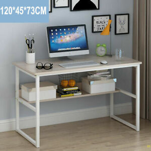 Computer Home Office Desk Corner Wooden Desktop Table PC Study Workstation 120CM