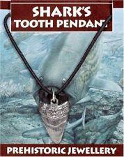 PREHISTORIC Shark Tooth Pendant. Marine Biology Diving Diver Sea fossils nature