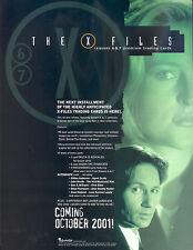X-FILES SEASON 6 & 7 2001 INKWORKS PROMO PROMOTIONAL SALE SELL SHEET TV