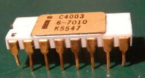 VINTAGE 4003 INTEL C4003 GOLD WHITE CERAMIC RAM NEVER SOLDERED