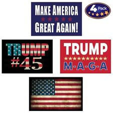 Pro Trump American Flag Hard Hat Helmet Stickers 4 Decal Value Pack. Great