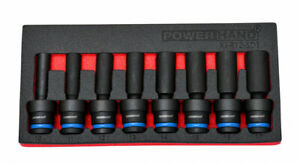 "POWERHAND 8PC 1/2"" DEEP SWIVEL IMPACT SOCKET SET 10-17mm ki-r12-sd1"