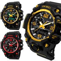 NEW SKMEI Military Alarm Sport Quartz Wrist Watch Mens Analog Digital Waterproof