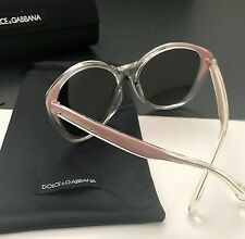 Dolce & Gabbana DG6075-M 2709/73 Clear Pink Mirrored Cat-Eye Sunglasses Italy