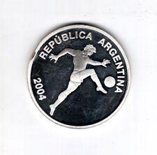 Argentinien, 5 Pesos, FIFA WM 2004, 2006 Silber Fußball Deutschland