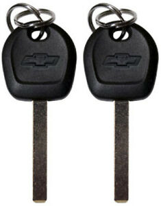 2 PACK - CHEVROLET GM FACTORY ORIGINAL TRANSPONDER CHIP BOW-TIE LOGO KEY BLANKS