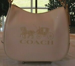 Beautiful Coach Leather Horse and Carriage Embossed Shoulder Bag Handbag
