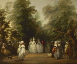 Thomas Gainsborough The Mall in St. James's Park Giclee Canvas Print Poster