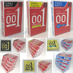 Okamoto 0.01MM Fino Condones 001 Zero Uno Ultra más sin Piel Japón Con / Pista