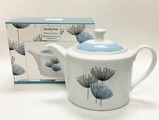 PORTMEIRION SANDERSON DANDELION CLOCKS BLUE+BLACK TEA+COFFEE POT,TEAPOT 6 CUPS