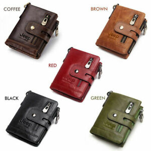 Mens Wallet Purse Card Holder Coin Money Pocket Genuine Leather Jeep Gift Idea
