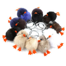 Plush Small Animal Pendant Mink Fur Keychain Key Ring Cute Bag Accessory Decor