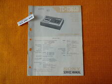 Service MANUAL Sony TC 136sd Manuale English