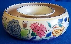 POOLE POTTERY TRADITIONAL ELABORATE BN PATTERN POSY BOWL VASE - DIANE HOLLOWAY