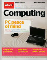 WHICH? COMPUTING Magazine August 2013 - PC Peace Of Mind