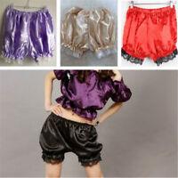 Satin Knickers Panties Pumpkin Bloomer Shorts Underwear Underpants Lace Women