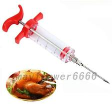 1PC Marinade Injector Syringe Cook Flavor Needle For Meat Turkey Steak BBQ