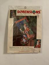 New Needlepoint Dimensions Merry Moment Stocking #9126 Complete Kit 2001