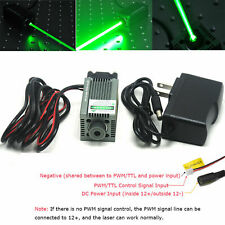 Focusable 520nm 1W Green Laser Dot Module Engraving and Cutting TTL &12V Adapter