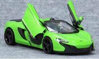 McLaren 650S Spider - Green, Classic Metal Model Car, Motormax 1/24