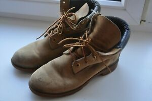 mens Genuine Leather timberland boots size UK8.5/US9M/ 43 Vintage Made In U.S.A.