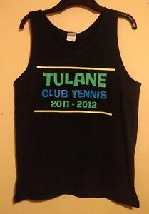 VINTAGE TENNIS VEST TANK TOP TULANE CLUB TENNIS 2011 2012 WE LOVE TO LOVE YOU L