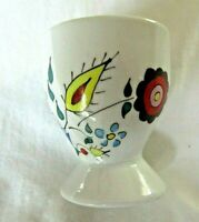 Vintage Hand Painted Porcelain Egg Cup~Signed~Made In Poland