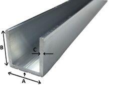 Alu U-Profil Länge: 0,5- 2 m Aluminium Aluprofil U Profil für Spanplatte