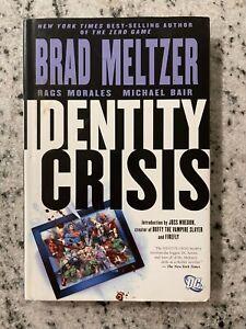 Identity Crisis DC HARDCOVER Graphic Novel Comic Book Superman Batman Flash J587