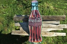 Coca-Cola 1923 Bottle Embossed Tin Metal Sign - Coke - Delicious & Refreshing