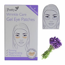 PRETTY WRINKLE CARE GEL EYE PATCHES - 4 TREATMENTS WITH COLLAGEN & LAVENDER EXTR