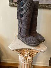 UGG Australia WOMENS  Classic Cardy Sheepskin Size 8Gray 5819 Sweater Boot
