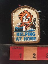 Fun Tiger Helper HELPING AT HOME Patch (used/recovered from scout vest) C748