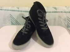 Quick Silver Men's High Top Black Suede Leather Trainers UK 11 Worn 2-3 times